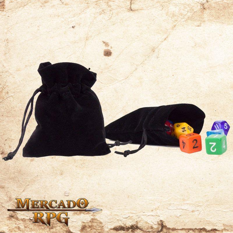 Dice Bag - Preto  - Mercado RPG