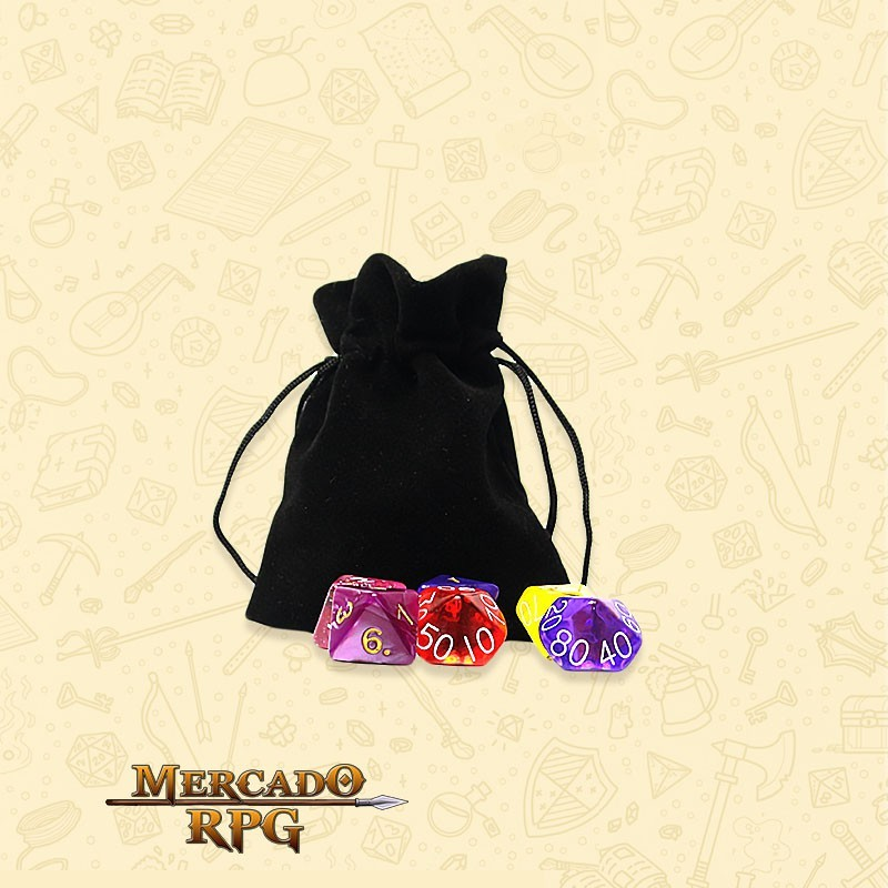 Dice Bag RPG - Preto