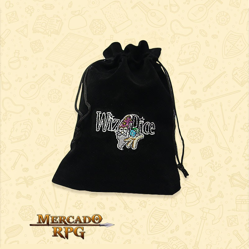 Dice Bag RPG - Preto  - Mercado RPG