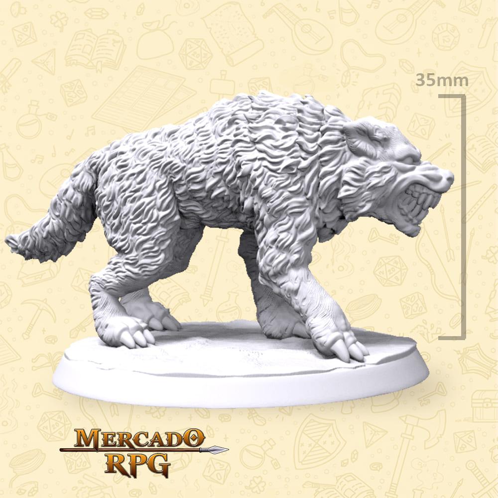 Dire Wolf - Miniatura - RPG