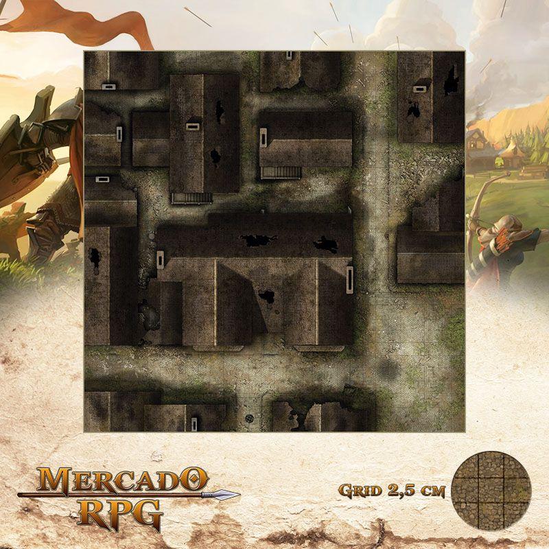 Distrito Abandonado 75x75 - RPG Battle Grid D&D