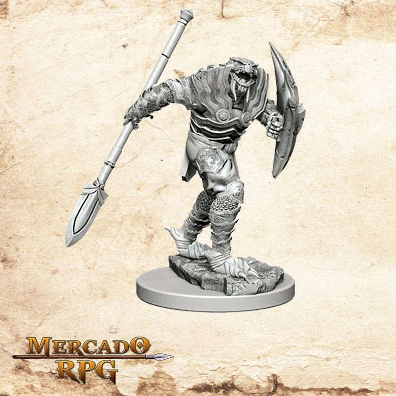 Dragonborn Male Fighter A - Miniatura RPG  - Mercado RPG