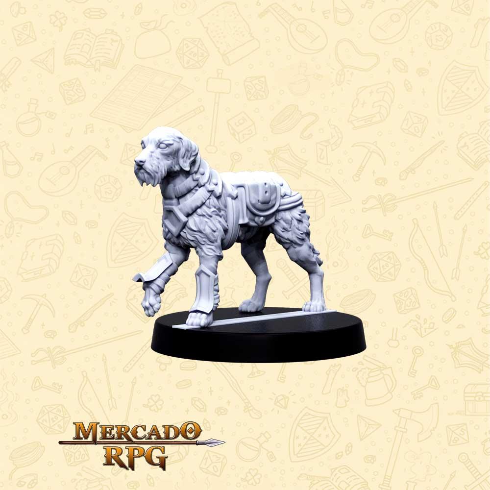 Duke Cão de Batalha - Basilisco Miniaturas - Resina - Miniaturas para RPG