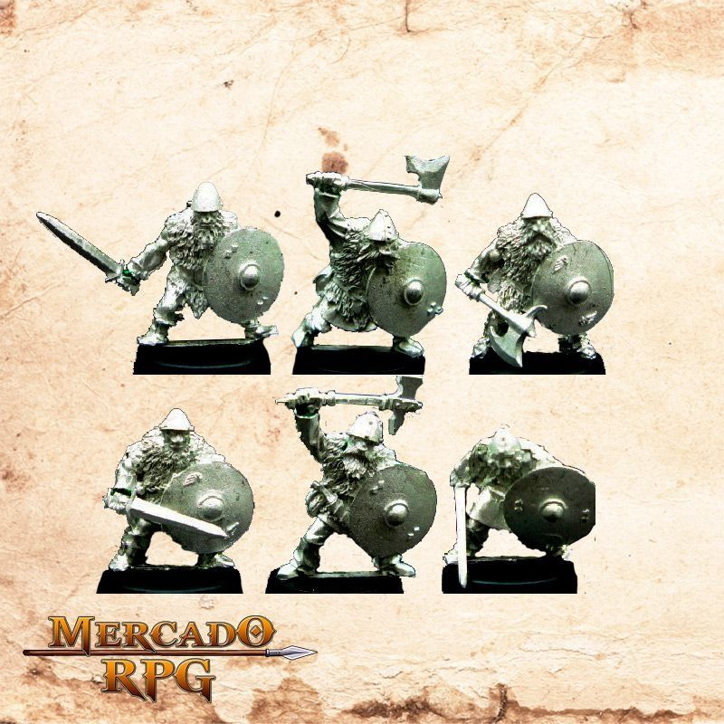 Dvergr Footmen (6 Miniaturas)  - Mercado RPG