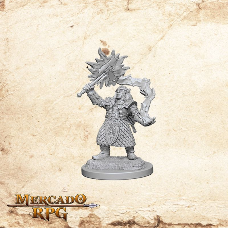 Dwarf Female Cleric A - Miniatura RPG  - Mercado RPG