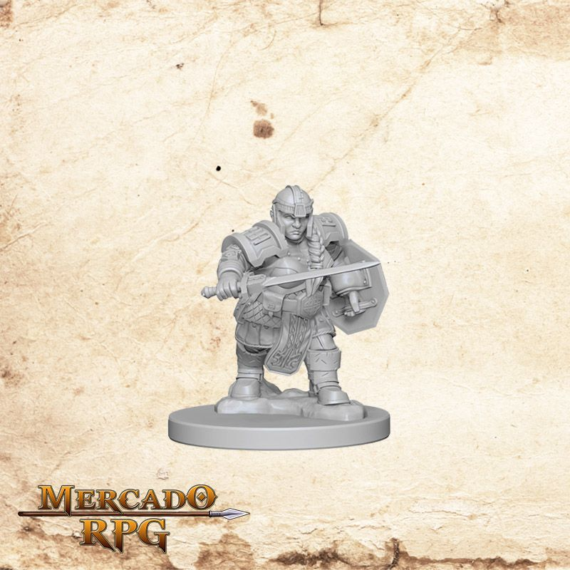 Dwarf Female Fighter A - Miniatura RPG