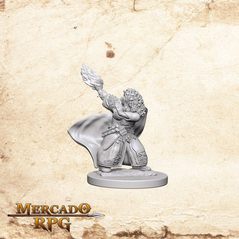 Dwarf Female Wizard B - Miniatura RPG  - Mercado RPG