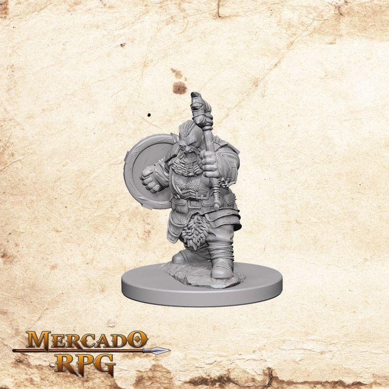 Dwarf Male Barbarian A - Miniatura RPG  - Mercado RPG