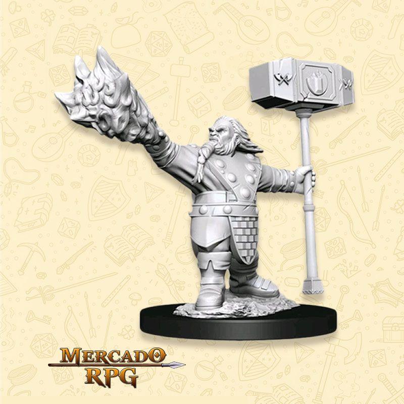 Dwarf Male Cleric C - Miniatura RPG Wizkids Nolzur's Marvelous
