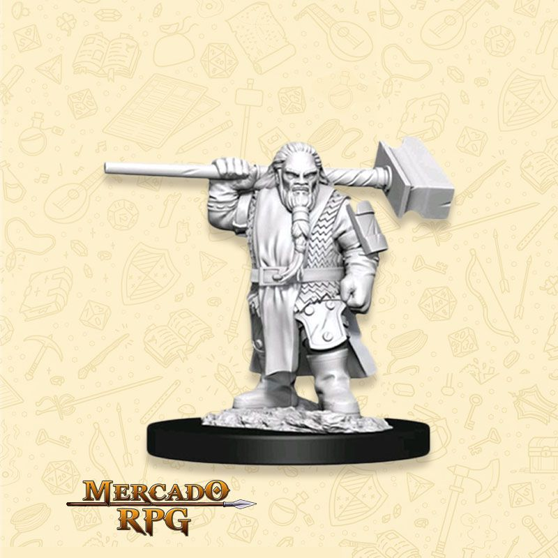 Dwarf Male Cleric D - Miniatura RPG