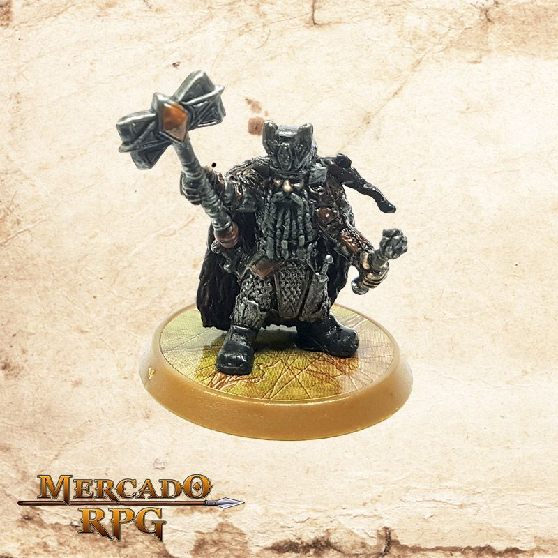 Dwarf Warlord (Base 30mm) - Miniatura RPG  - Mercado RPG
