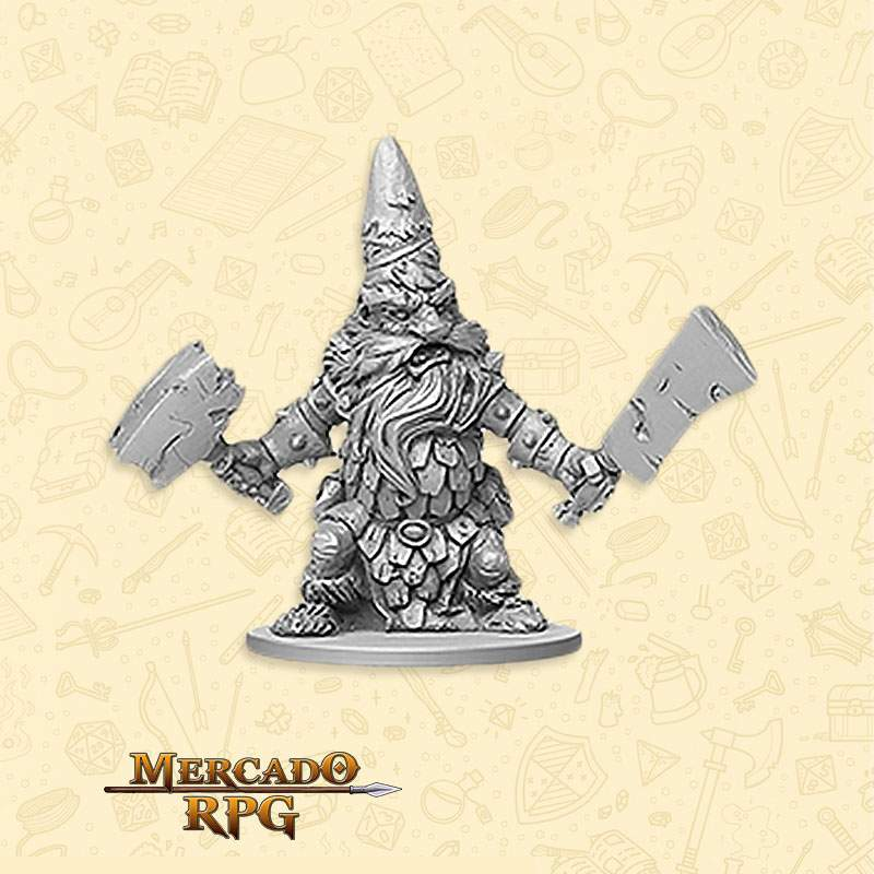 Dwarf Warrior Boss - Miniatura RPG  - Mercado RPG