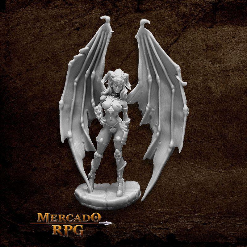 Eilluvasheth, Succubus Queen - Miniatura RPG  - Mercado RPG