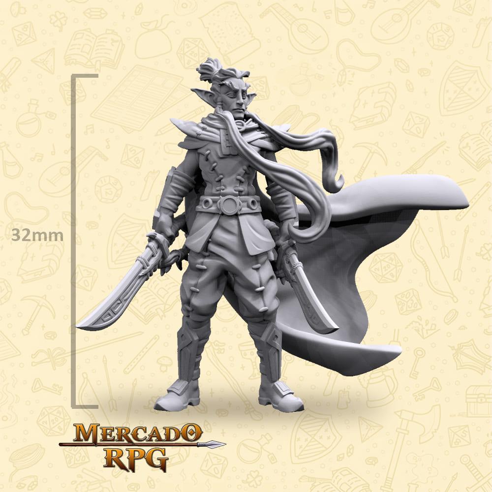 Elf Commander - Miniatura - RPG
