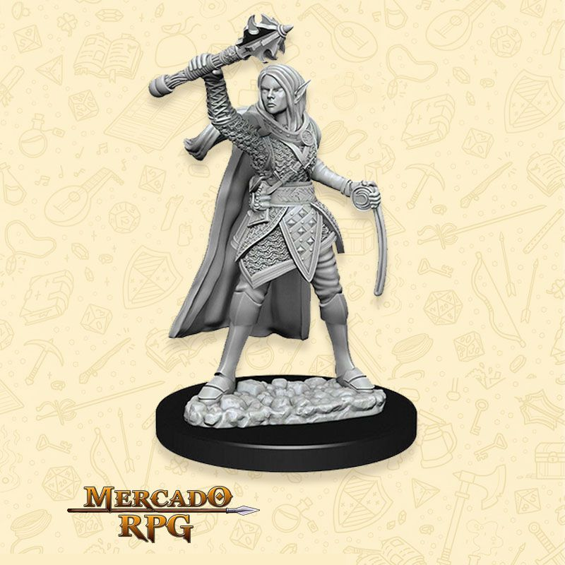 Elf Female Cleric A - Miniatura RPG  - Mercado RPG