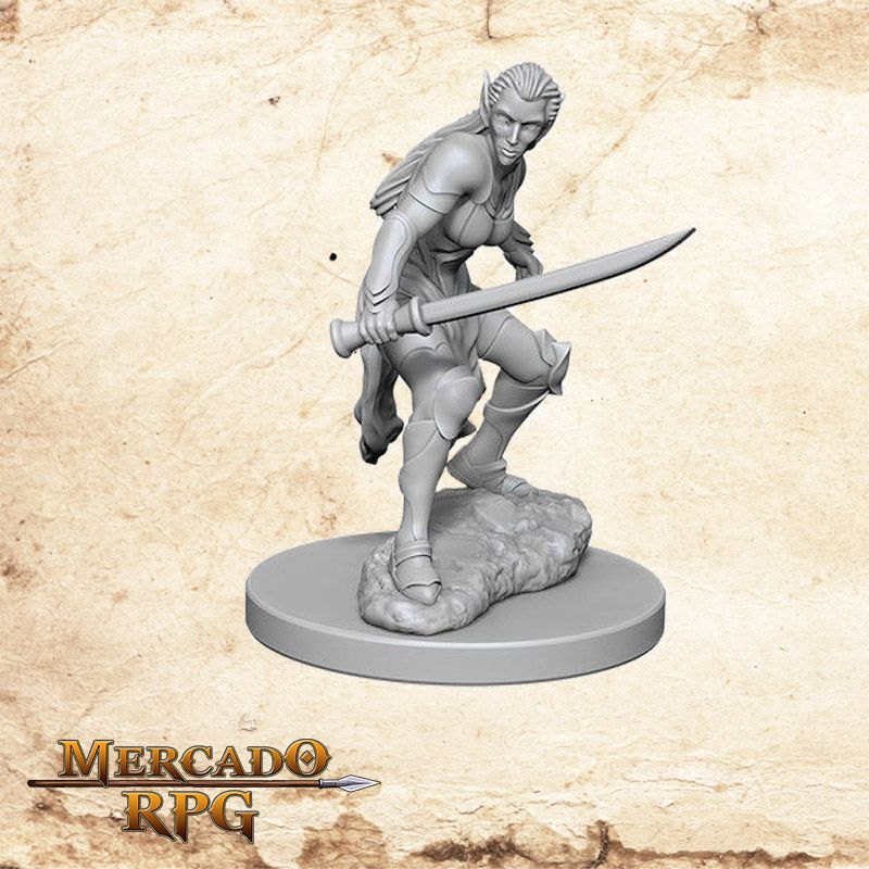 Elf Female Fighter B - Miniatura RPG  - Mercado RPG
