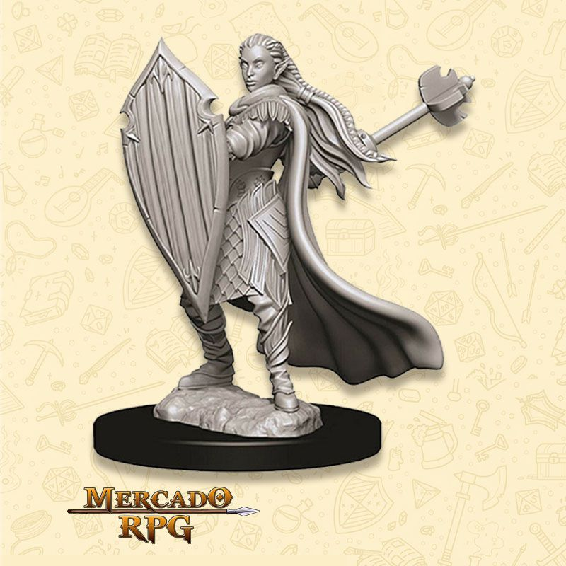 Elf Female Paladin C - Miniatura RPG