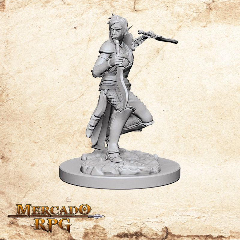 Elf Female Rogue A - Miniatura RPG  - Mercado RPG