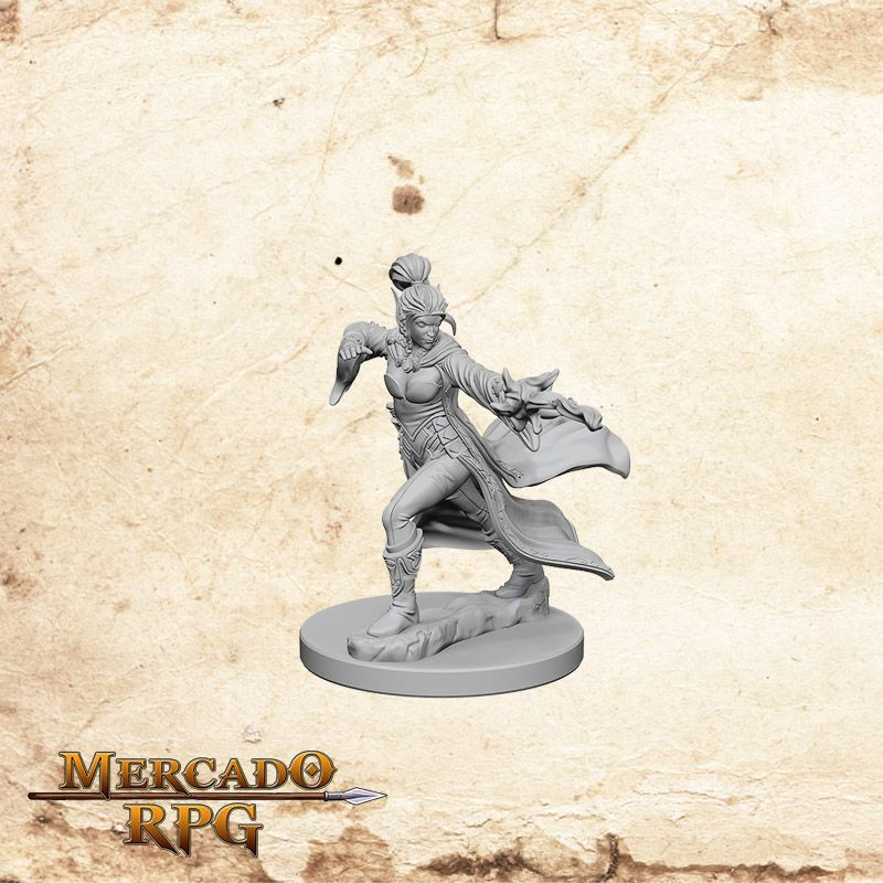 Elf Female Sorcerer A - Miniatura RPG  - Mercado RPG