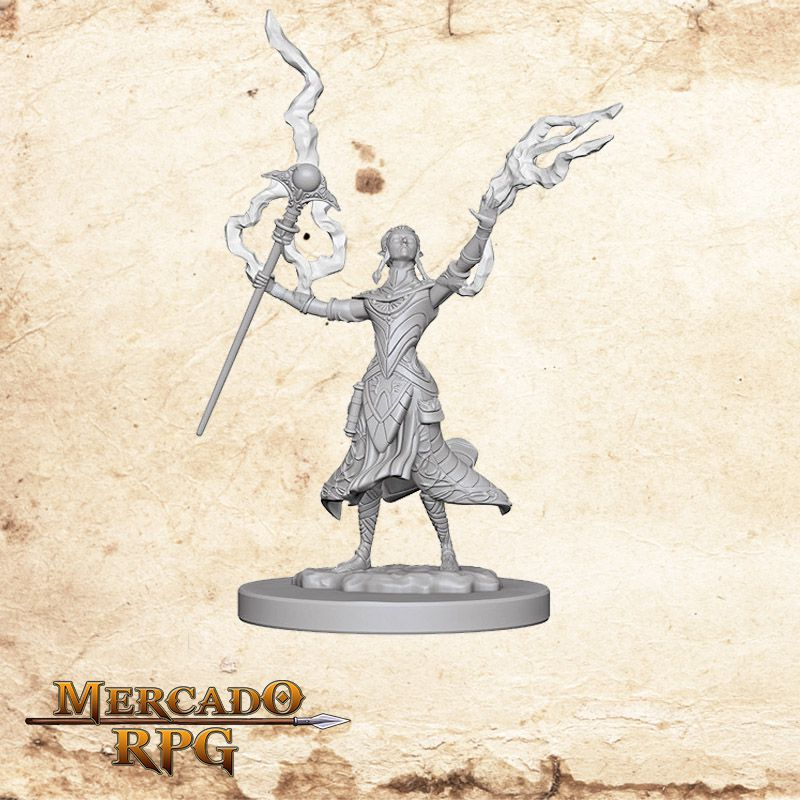 Elf Female Wizard B - Miniatura RPG  - Mercado RPG