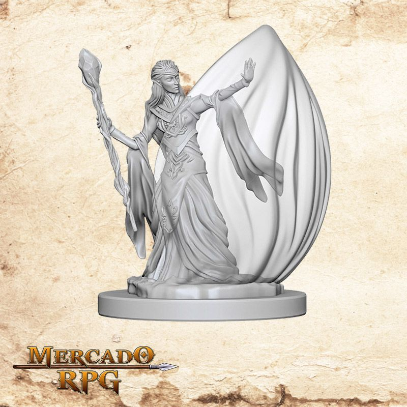 Elf Female Wizard A - Miniatura RPG  - Mercado RPG