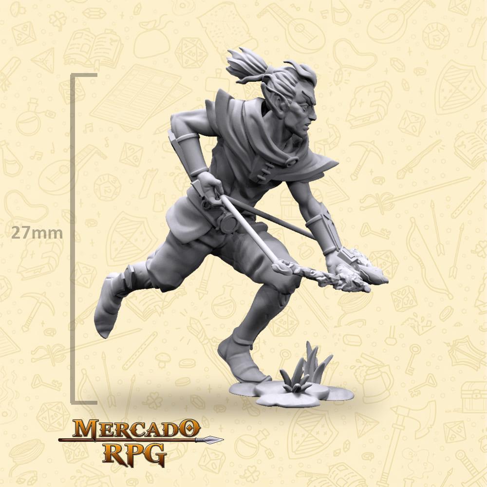 Elf Male Bow - Miniatura - RPG