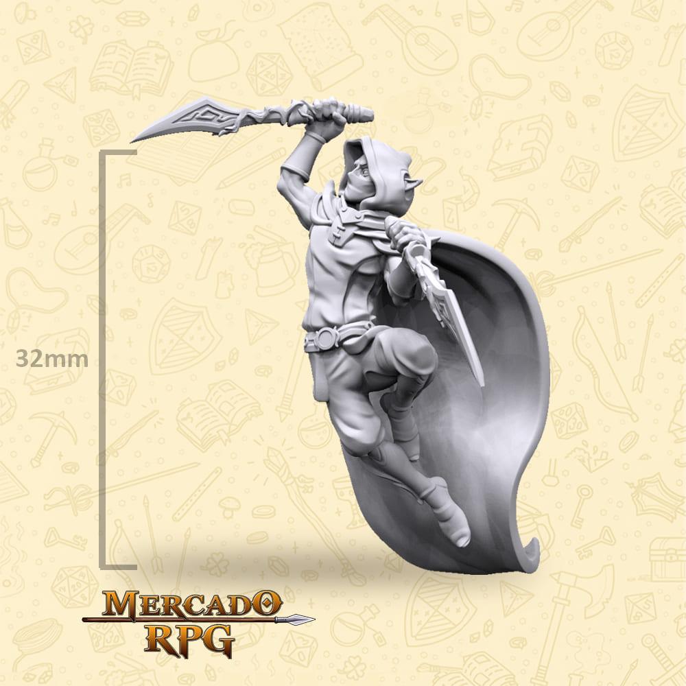 Elf Male Dagger - Miniatura - RPG
