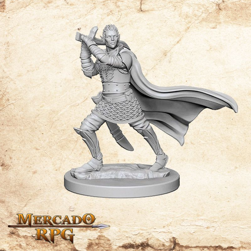 Elf Male Paladin B - Miniatura RPG  - Mercado RPG