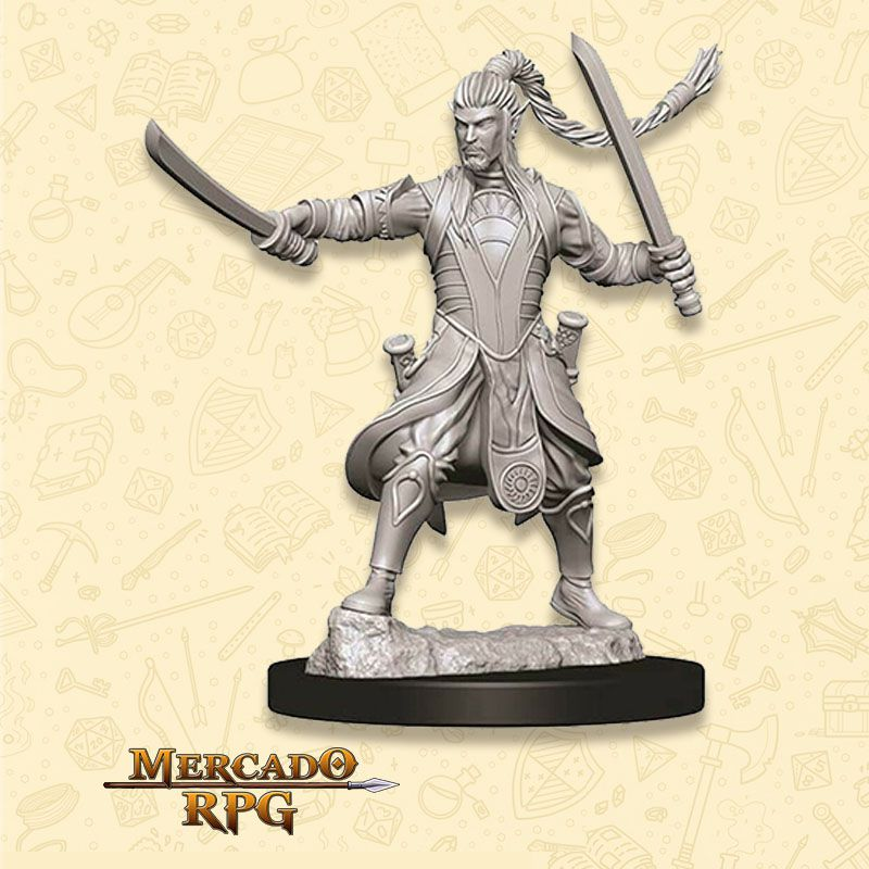 Elf Male Paladin D - Miniatura RPG  - Mercado RPG
