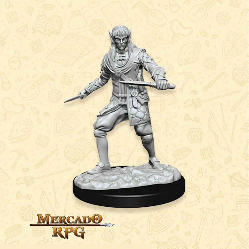 Elf Male Rogue D - Miniatura RPG  - Mercado RPG