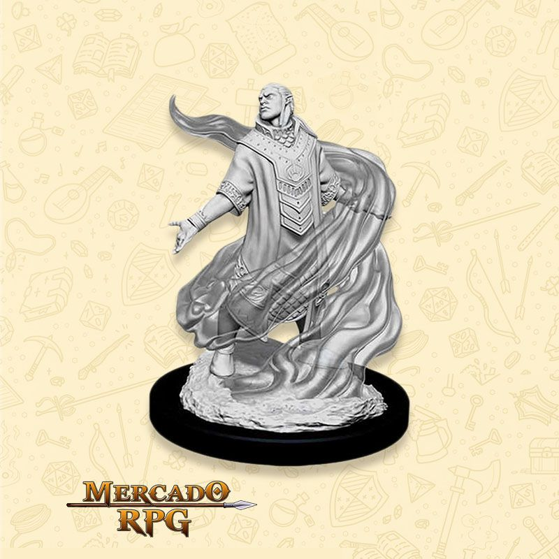 Elf Male Sorcerer D - Miniatura RPG  - Mercado RPG
