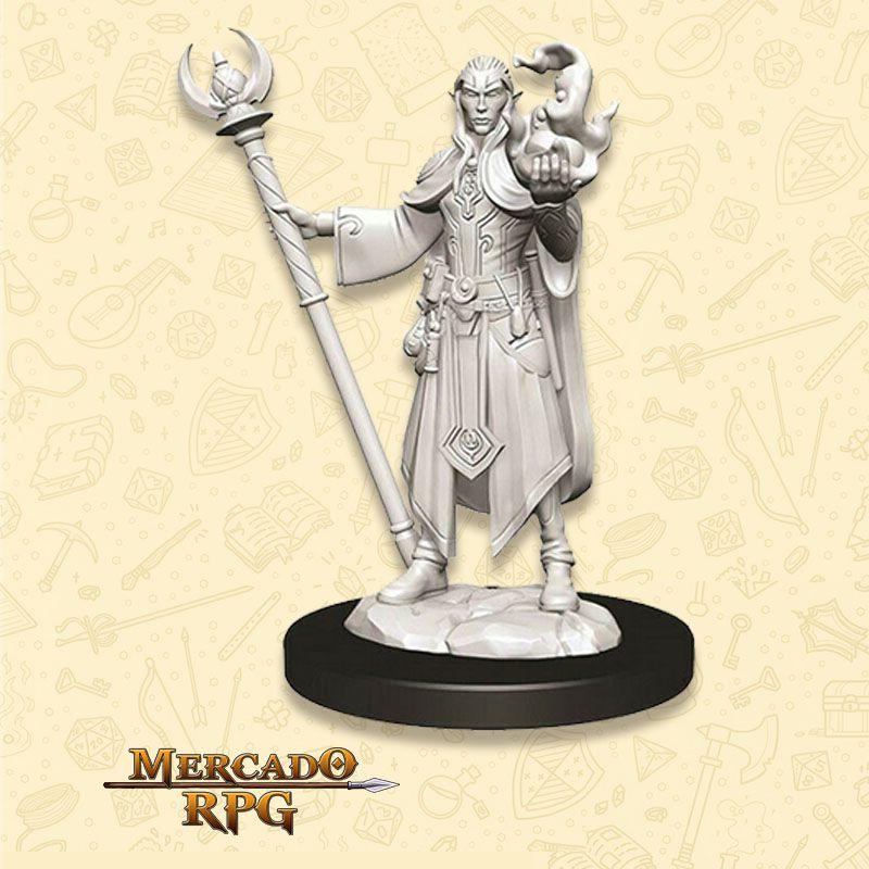 Elf Male Wizard C - Miniatura RPG  - Mercado RPG