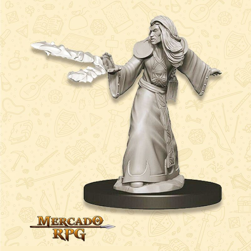 Elf Male Wizard D - Miniatura RPG  - Mercado RPG
