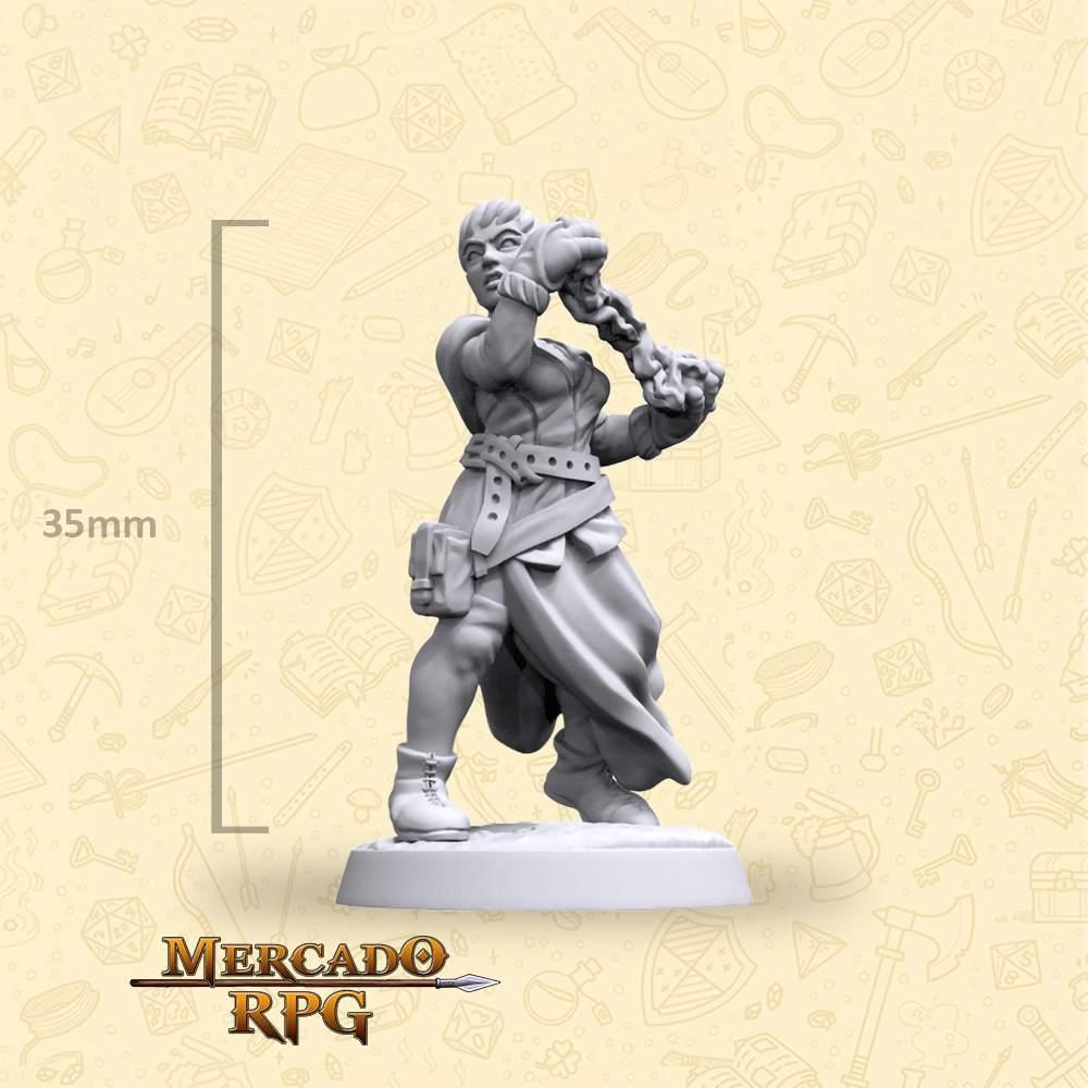 Elf Wizard Female - Hero - Miniatura - RPG