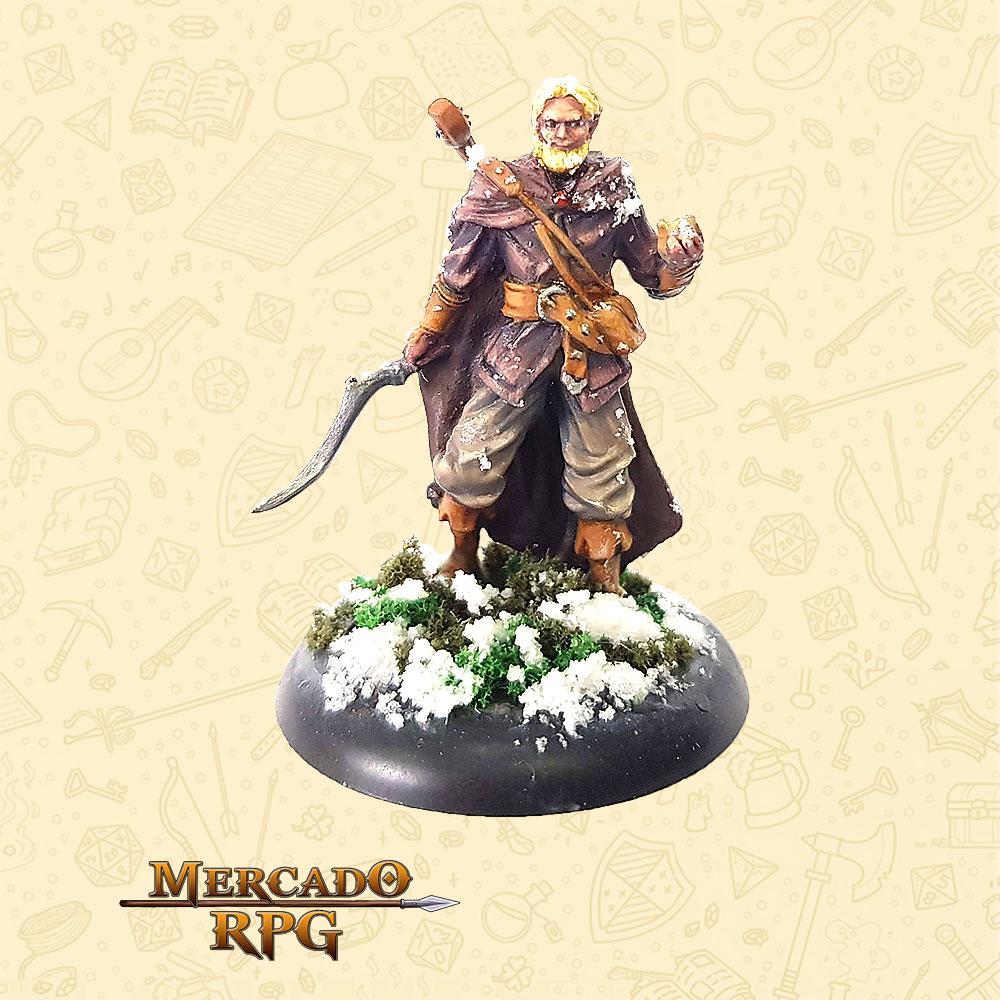 Eluren Arauto da Manhã - Basilisco Miniaturas - Metal Branco - Miniaturas para RPG