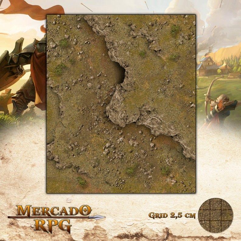 Entrada da Caverna 25x30 - RPG Battle Grid D&D