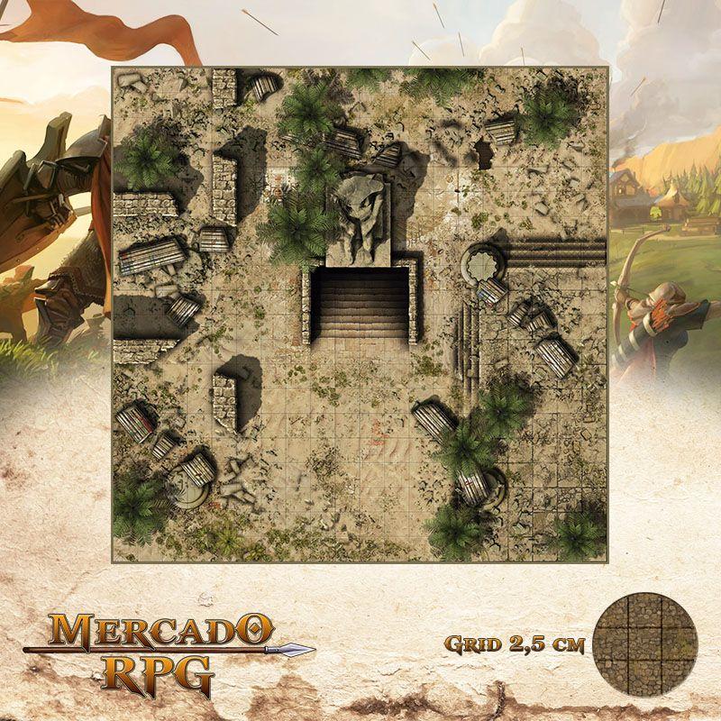 Entrada da Tumba Desolada 50x50 - RPG Battle Grid D&D