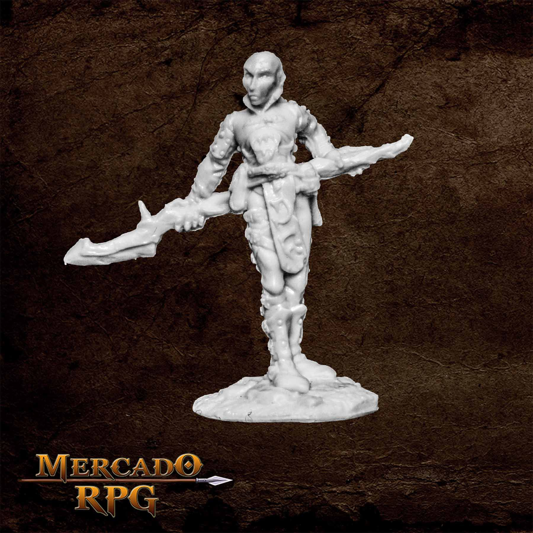 Eredain Mercenary Wizard - Miniatura RPG