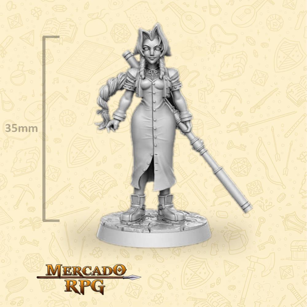 Aerith Gainsborough - Miniatura Final Fantasy - RPG