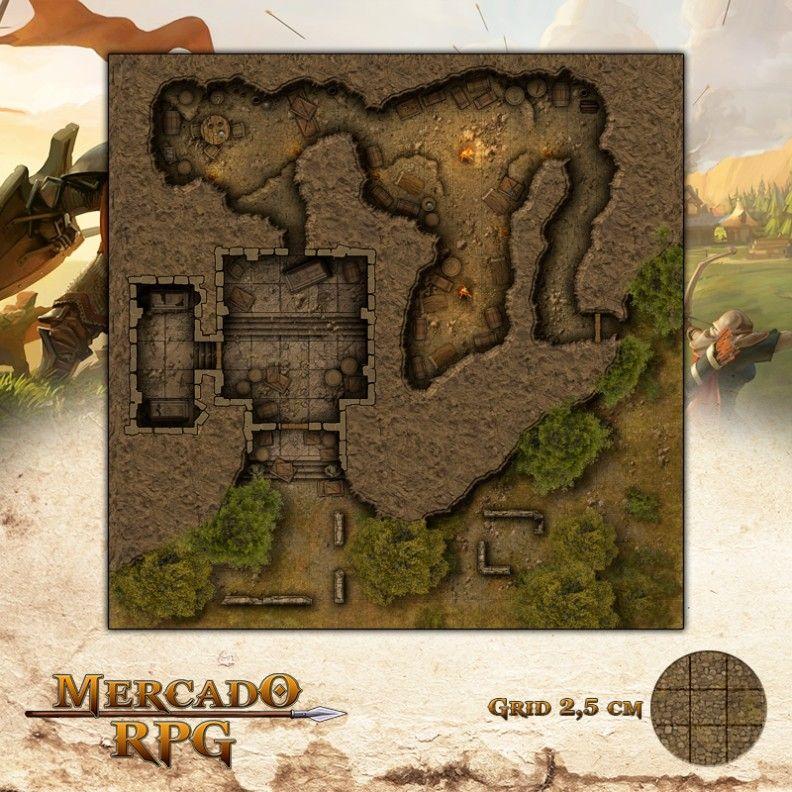 Esconderijo de Guilda 50x50 - RPG Battle Grid D&D