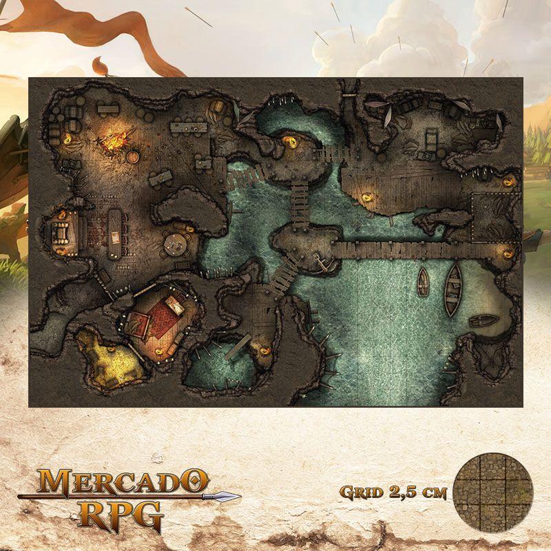 Esconderijo dos Contrabandistas 50x75 - RPG Battle Grid D&D