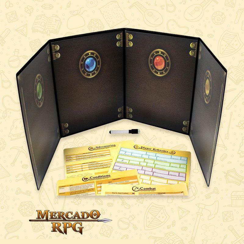 Escudo do mestre Customizável - RPG  - Mercado RPG