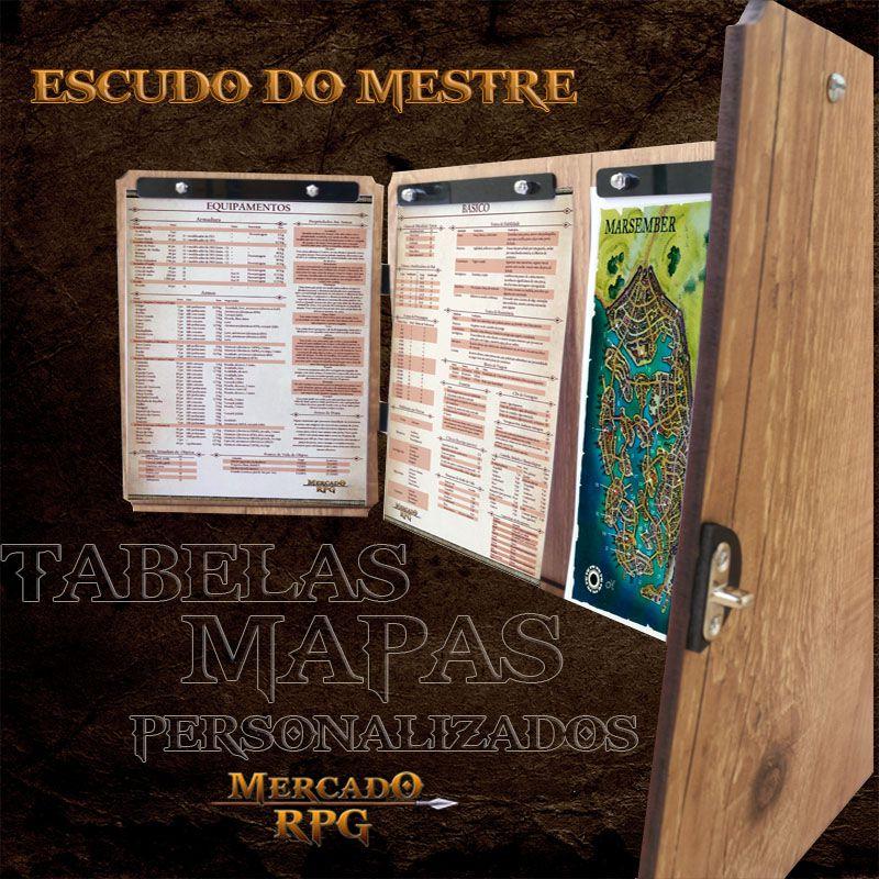 PRÉ-VENDA - Escudo do Mestre Premium - D20 - RPG  - Mercado RPG