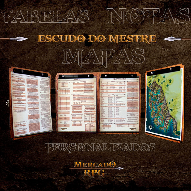 Escudo do Mestre Premium - D&D - RPG  - Mercado RPG