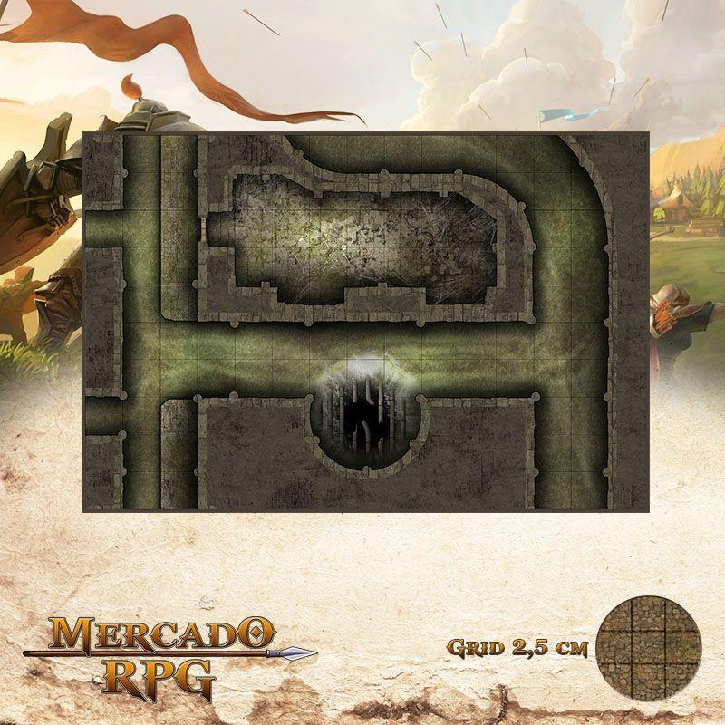 Esgoto - Dutos 25x37 - RPG Battle Grid D&D