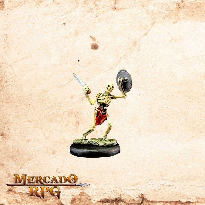 Esqueleto Espada e Escudo