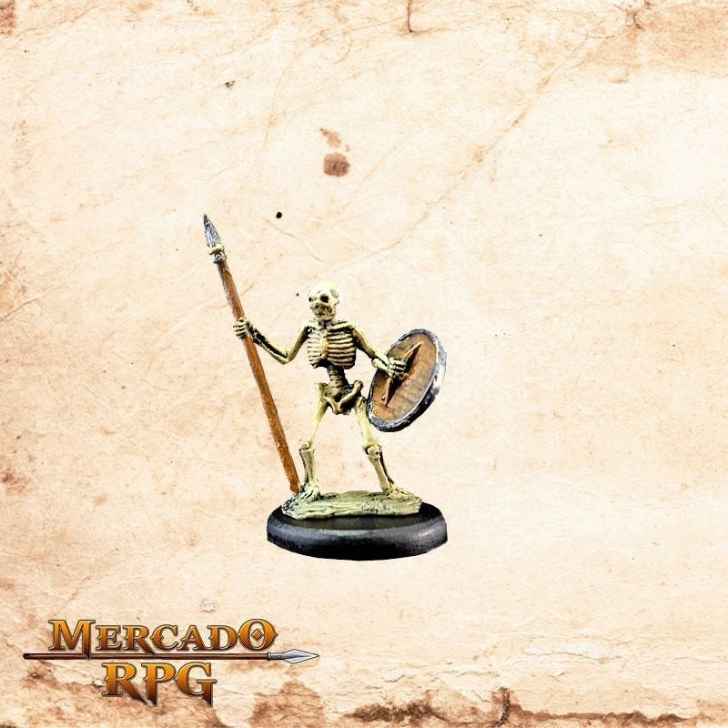 Esqueleto Lança e Escudo