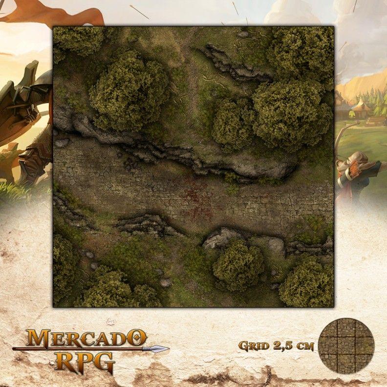 Estrada da Emboscada 50x50 - RPG Battle Grid D&D
