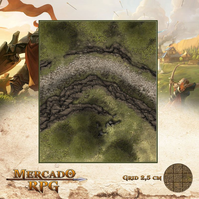 Estrada da Imagem Caída 25x30 - RPG Battle Grid D&D