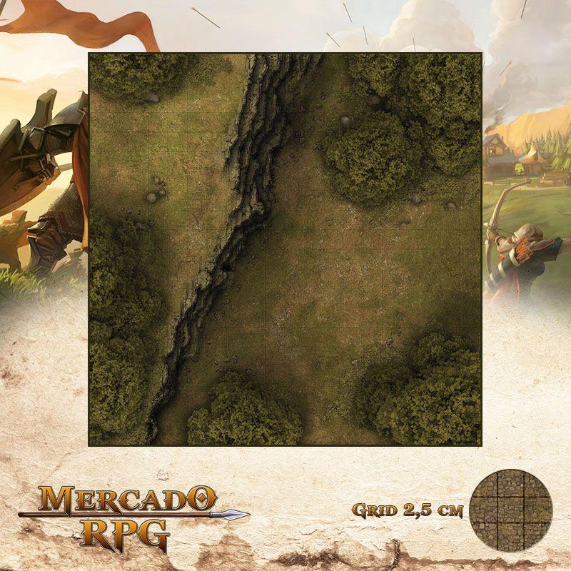 Estrada na Floresta B 50x50 - RPG Battle Grid D&D